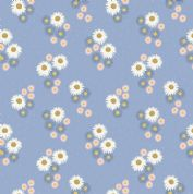 Lewis & Irene Flo's Wildflowers - 5442 - Daisies on Blue - FLO12.2 - Cotton Fabric